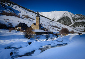 mountainlodge Amics de Montgarri in wintertime